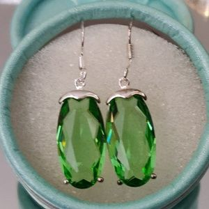 Jewelry - Gorgeous Green Quartz Earings